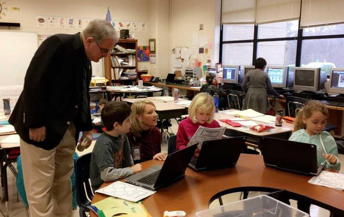 Sharon-Elementary----Woods-with-students WEB